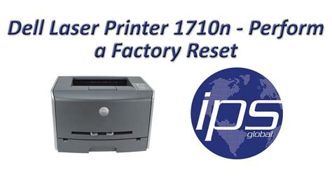 nvram reset dell printer dell 1710n perform a factory reset youtube