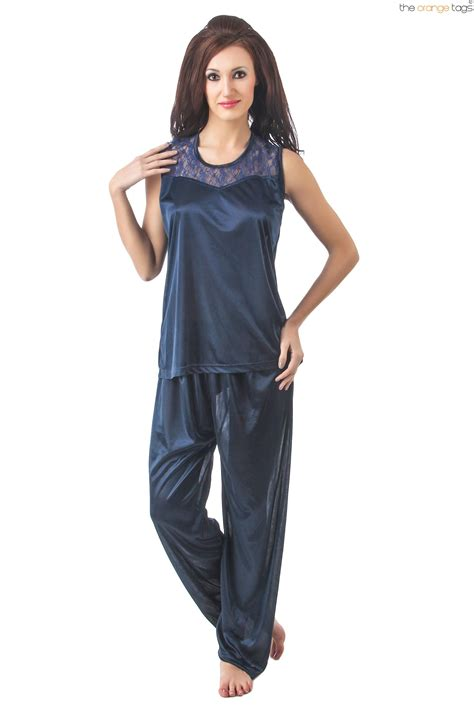 new sleeveless pyjama set womens satin pj s