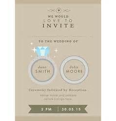 Wedding Invitations With Rings On Them