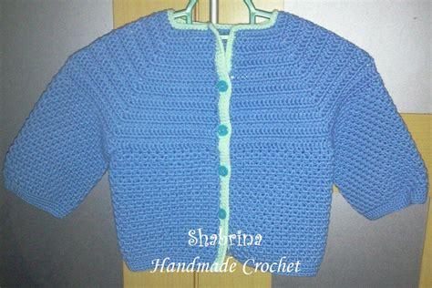 Rajut Bayi Crochet Custom Foto Blue crochet baby jacket beautiful and simple handmade crochet