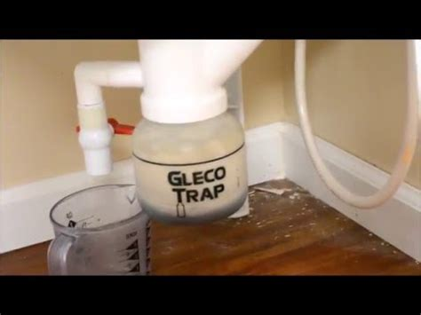 how to clean sink trap how to clean out a gleco sink trap in my home studio youtube