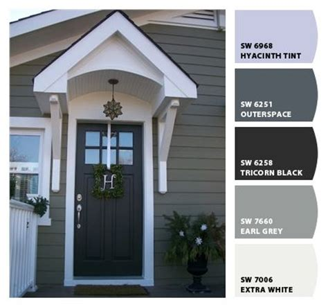 paint colors, the white and door with window on pinterest