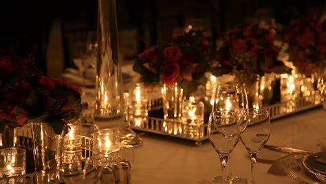 elegant dinner settings elegant candlelight dinner table setting at reception