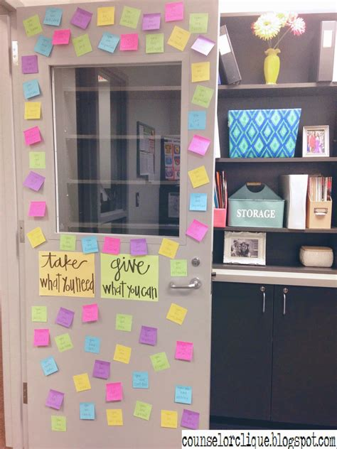When Do You Take The Decorations by Positive Affirmations Door Decor Counselor Clique