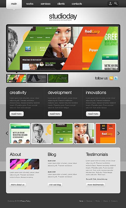 Abstract Geometric Design Website Templates Entheos Web Design Template
