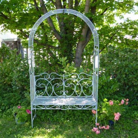 metal garden seats and benches metal garden bench seat with arch garden arbour garden