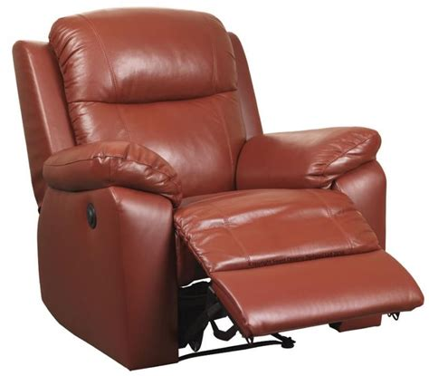 red recliner buttermere electric red leather power recliner blue