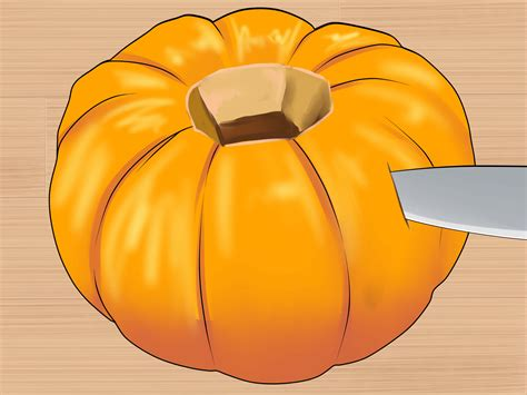 how to cut a pumpkin for how to cut a pumpkin 10 steps with pictures wikihow