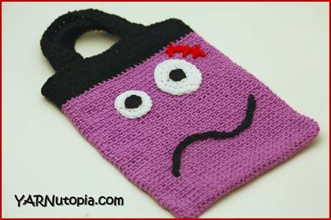 crochet pattern video tutorial by nadia crochet tutorial trick or treat bag 171 yarnutopia by nadia