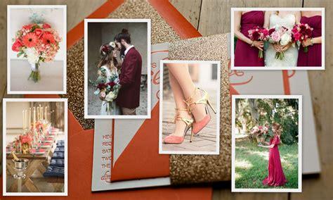 seasonal wedding color trends 2016