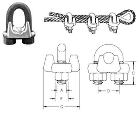 crosby wire rope clip installation forged wire rope unirope ltd