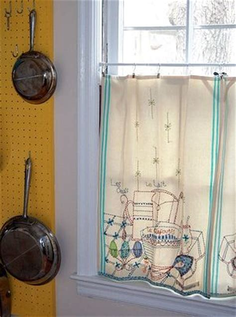 vintage cafe curtains cafe curtains out of vintage dish towels linens dish