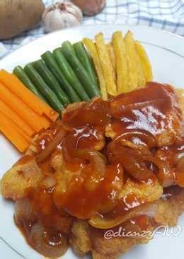 resep bistik ayam tepung enak  sederhana cookpad