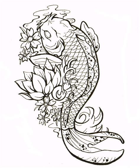 25 best ideas about koi fish drawing on koi