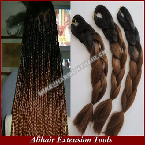 ombre hair using a braid blackbrown 20inch folded length 100grams per apck ombre