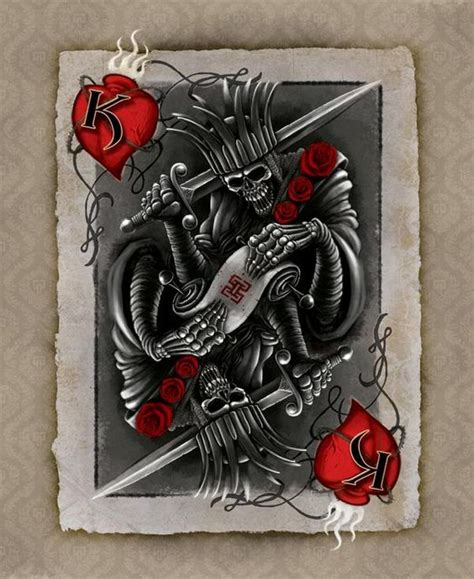 suicide king tattoo king card motorcycles build ideas