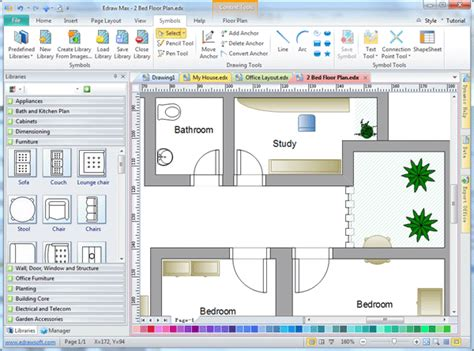 home design software free 2d 2d drafting software edraw