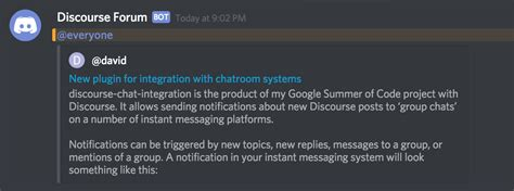 discord notifications not working set up discord notifications using the discourse chat