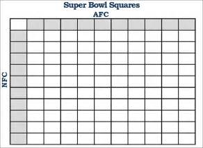 Football Board Template by Printable Football Square Templates Pdf Creative Template