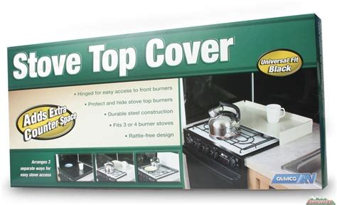 best covert camco universal rv stove top cover stainless steel