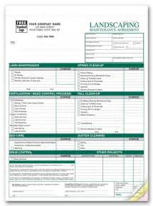 Sle Landscape Maintenance Contract by Free Printable Lawn Service Contract Form Generic