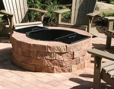 Firepit Kit Traditional Patio New York By Nicolock Outdoor Firepit Kit