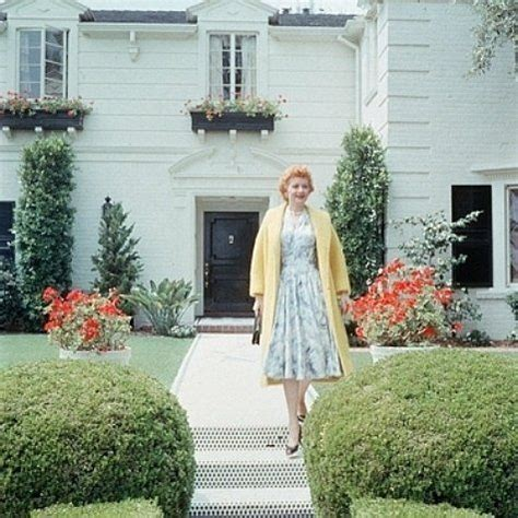 lucille ball home lucille ball in front of her beverly hills home living