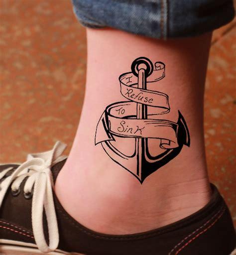 tatuaggi interno caviglia tatuaggio ancora un disegno carico di significati e