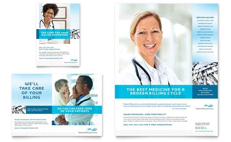 Medical Billing Coding Flyer Ad Template Word Publisher Health Care Flyer Template Free