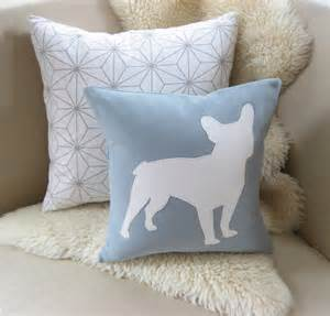 bulldog pillow cover spa blue white by vixengoods