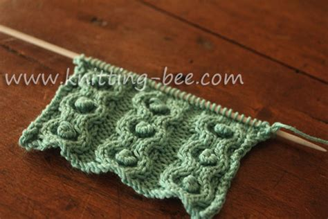 bobble stitch knit bobbles in circles cable knitting stitch 2 knitting bee