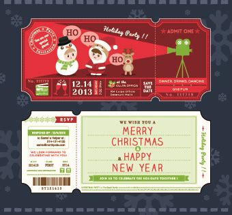 2014 christmas ticket vector free vector in encapsulated