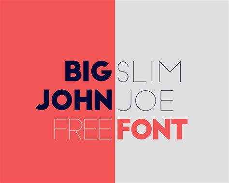 font design freeware big john slim joe typeface on behance