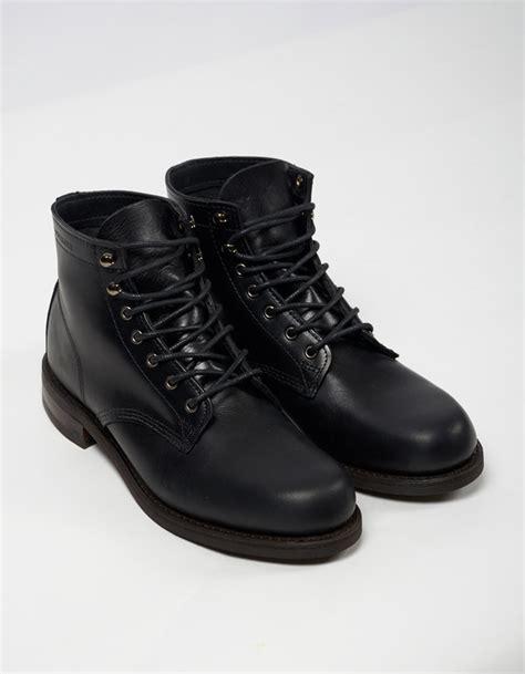 Sepatu Boot Almost Wolfrin Black wolverine 1883 wolverine 6 quot kilometer boot black leather garmentory