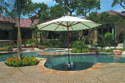 in pool table with umbrella building a custom swimming pool keith zars pools