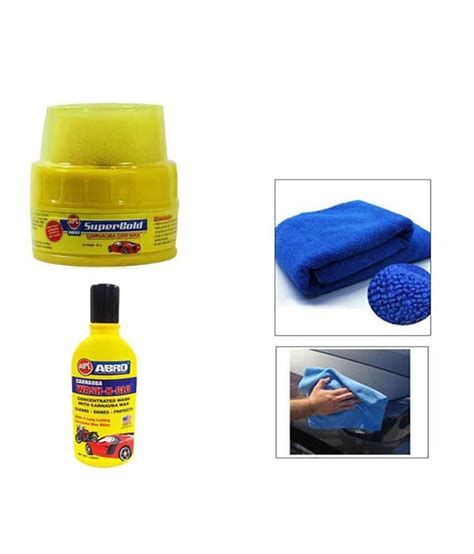 Auto Care Kain Microfiber Mobil abro car cleaning kit microfiber cloth with abro wax withabro shoo buy abro car