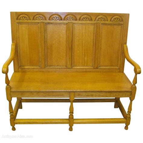hall benches jacobean style oak hall bench antiques atlas