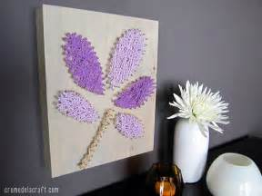 home decor craft ideas diy wall art from yarn nails