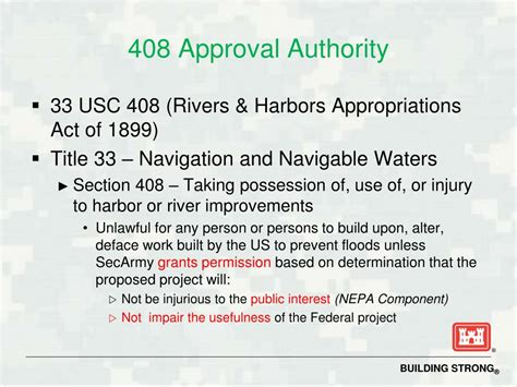 Section 408 Permit by Ppt Section 408 Approval Process New 408 Regional