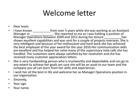 Service Welcome Letter Sle Welcome Letter For Hotel Guests Welcome Letter For Hotel Guests Sle 6 Quotes Welcome Back