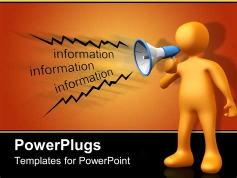 Powerpoint Announcement Templates Powerpoint Template A Person Making An Announcement On Loud Speaker 17338