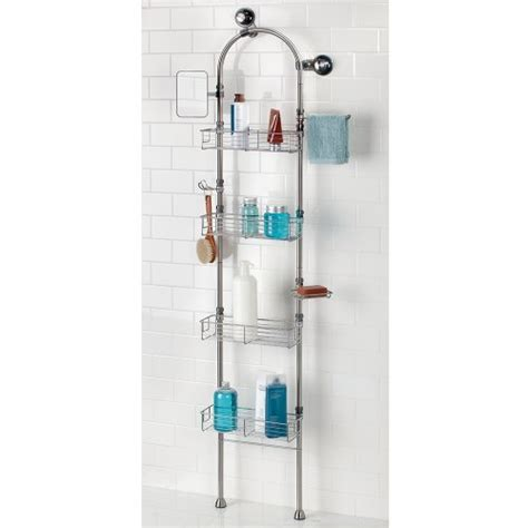 bathroom floor caddy interdesign forma bathroom floor standing shower caddy