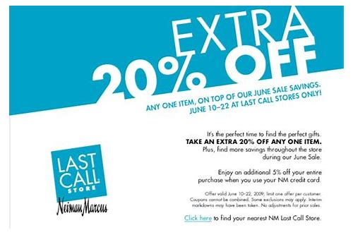 last call neiman marcus coupons 20 off
