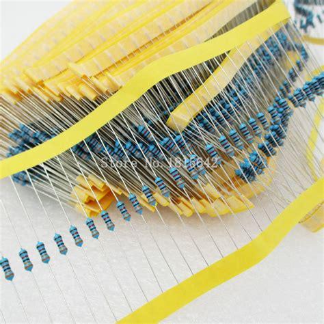 Resistor Metal 14 Watt 1 470 Ohm 10 Biji 1 100pcs 1 4w 470 ohm resistor 1 rohs1 4w 470r ohm metal resistors 0 25w watt color