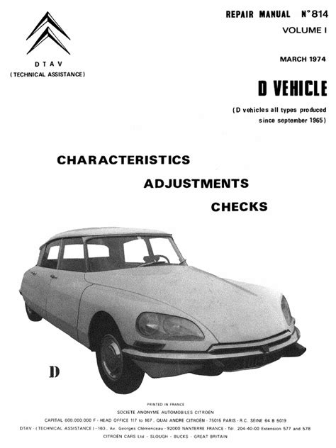 what is the best auto repair manual 1974 citroen cx electronic valve timing service manual citroen ds repair manual 814 vol 1 march 1974 citroen ds3 1 6 e hdi dstyle