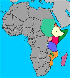 And capitals map of the eastern africa countries and capitals