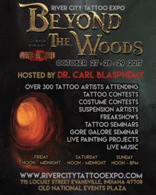 tattoo convention evansville river city tattoo expo beyond the woods october 27th
