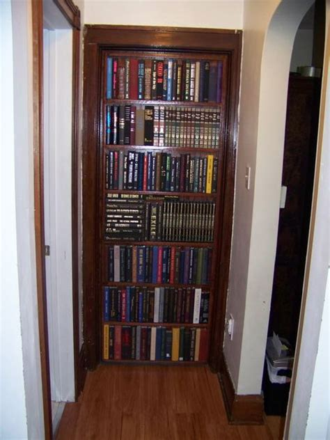 diy bookcase door bookcase door that replaces your door