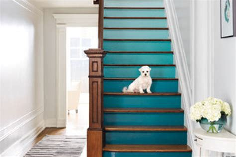 Staircase Makeover Ideas Diy Decorating Ideas For A Staircase Huffpost