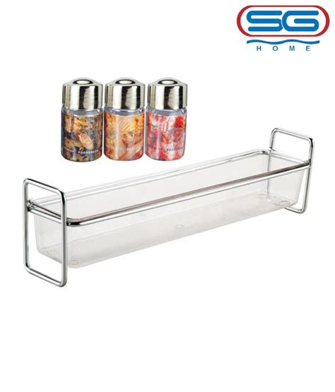 Small Spice Rack Set Buy Sg Small Standing Rack Spice Jar Set At Low